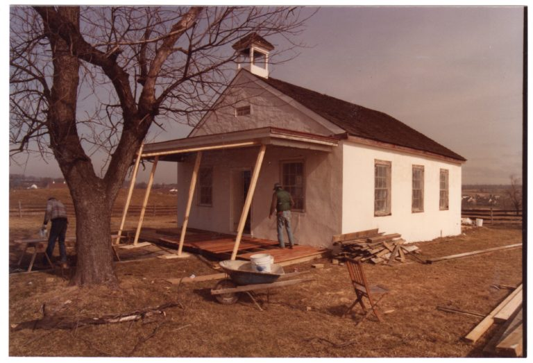 Porch repair, 1984