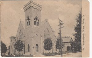 4125.10 Ambler Pa Postcard_Mt Pleasant Baptist Church