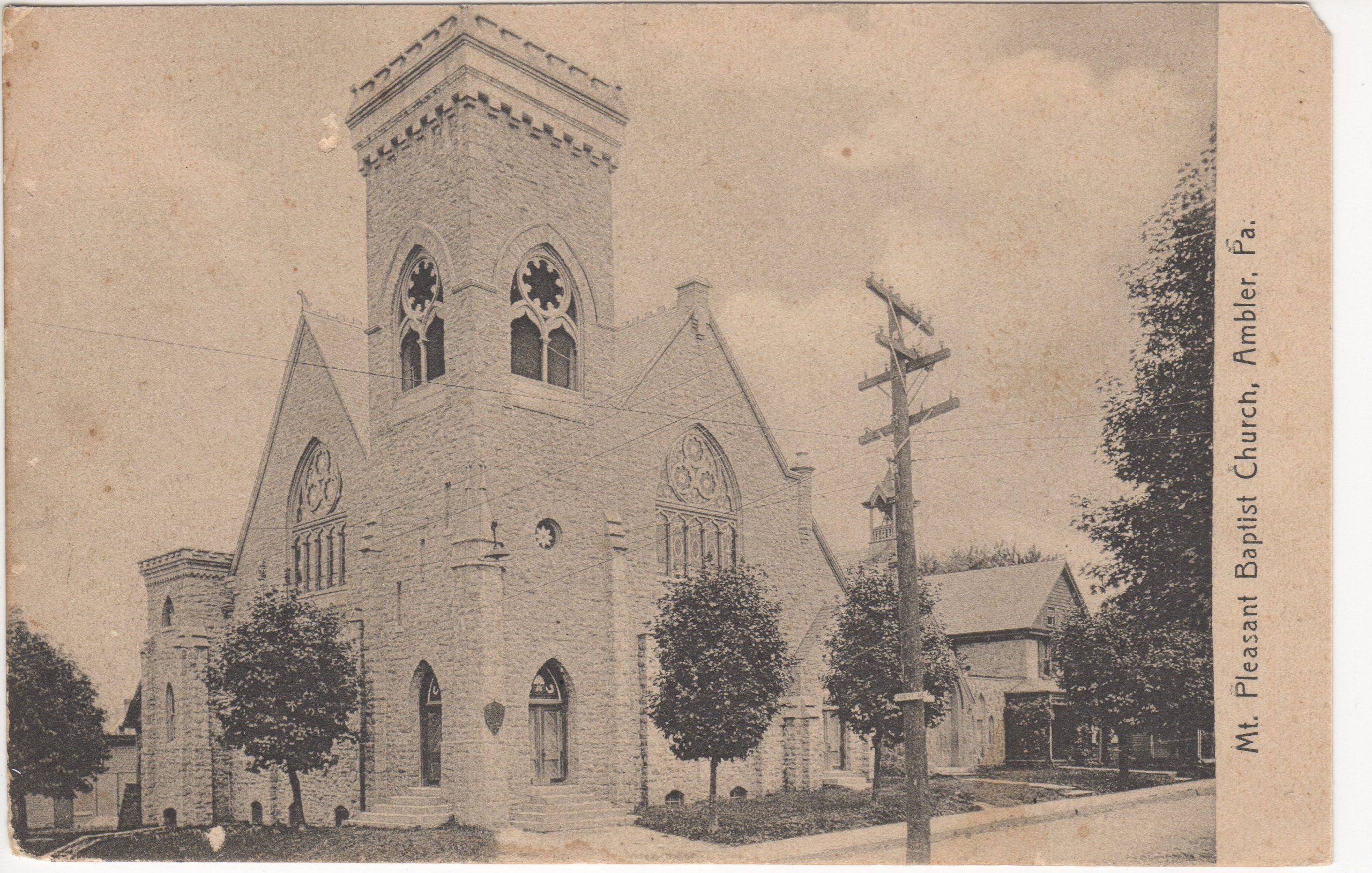 4125.10 Ambler Pa Postcard_Mt Pleasant Baptist Church
