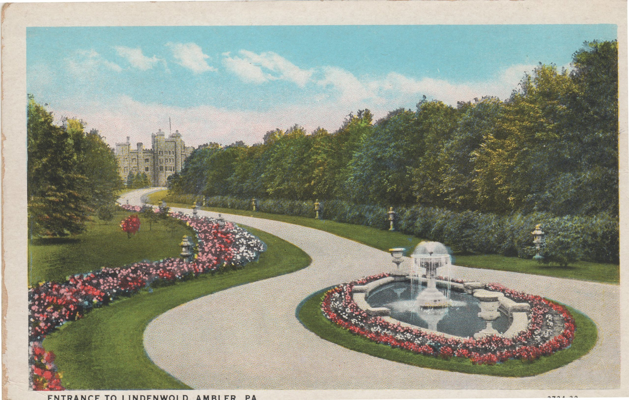 4125.100 Ambler Pa Postcard_Entrance to Lindenwold