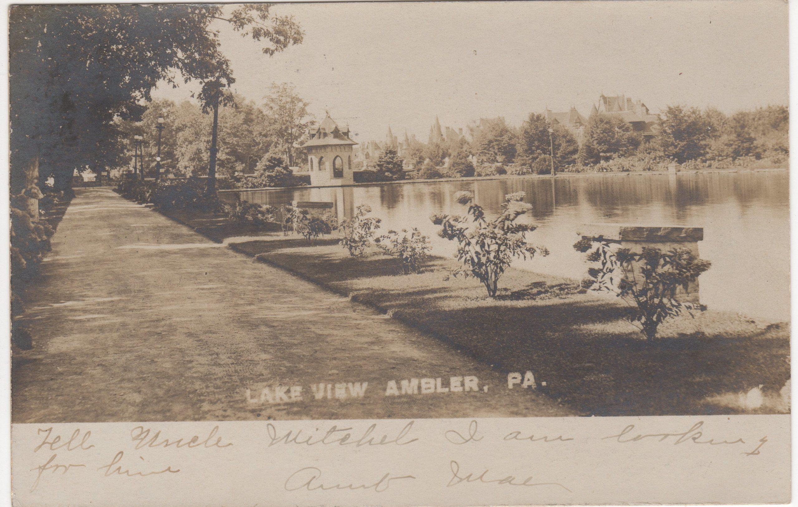 4125.103 Ambler Pa Postcard_Loch Linden_circa 1907 (2)
