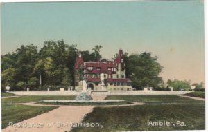 4125.110 Ambler Pa Postcard_Residence of Dr Mattison