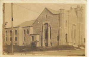 4125.12 Ambler Pa Postcard_Calvary Methodist Episcopal Church