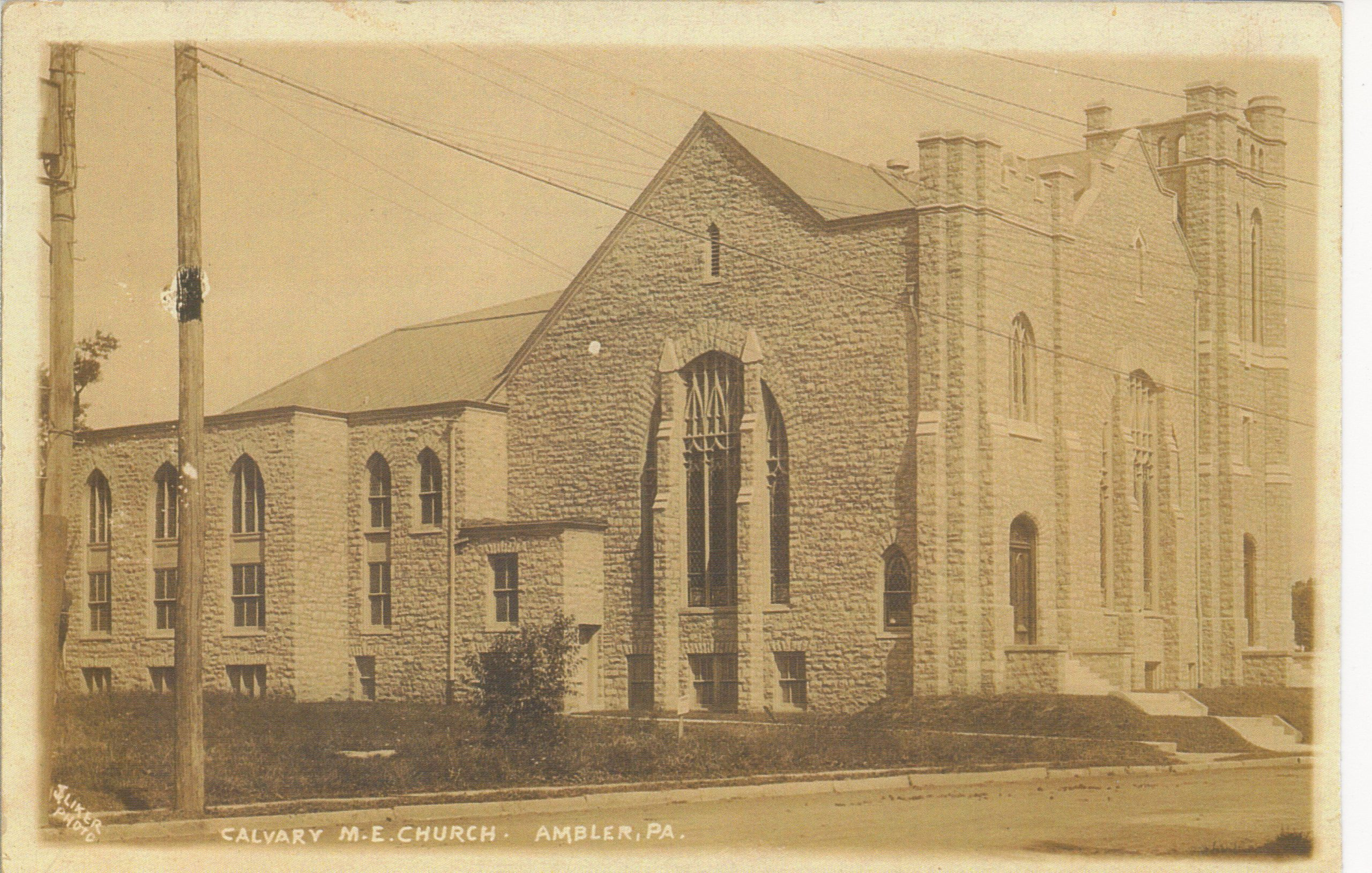 4125.12 Ambler Pa Postcard_Calvary Methodist Episcopal Church