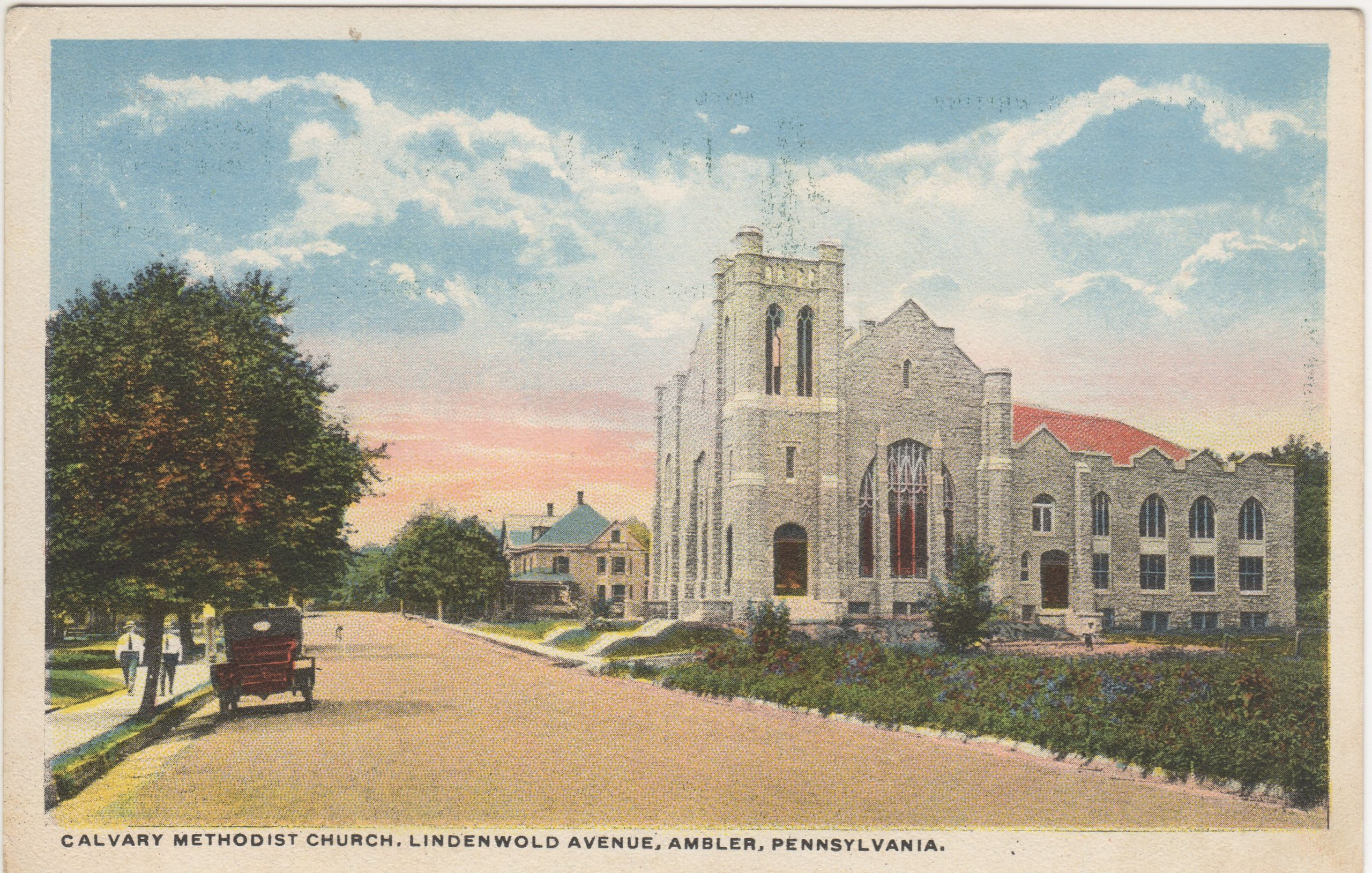 4125.13 Ambler Pa Postcard_Calvary Methodist Church Lindenwold Ave