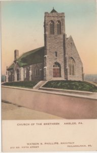 4125.14 Ambler Pa Postcard_Church of the Brethren