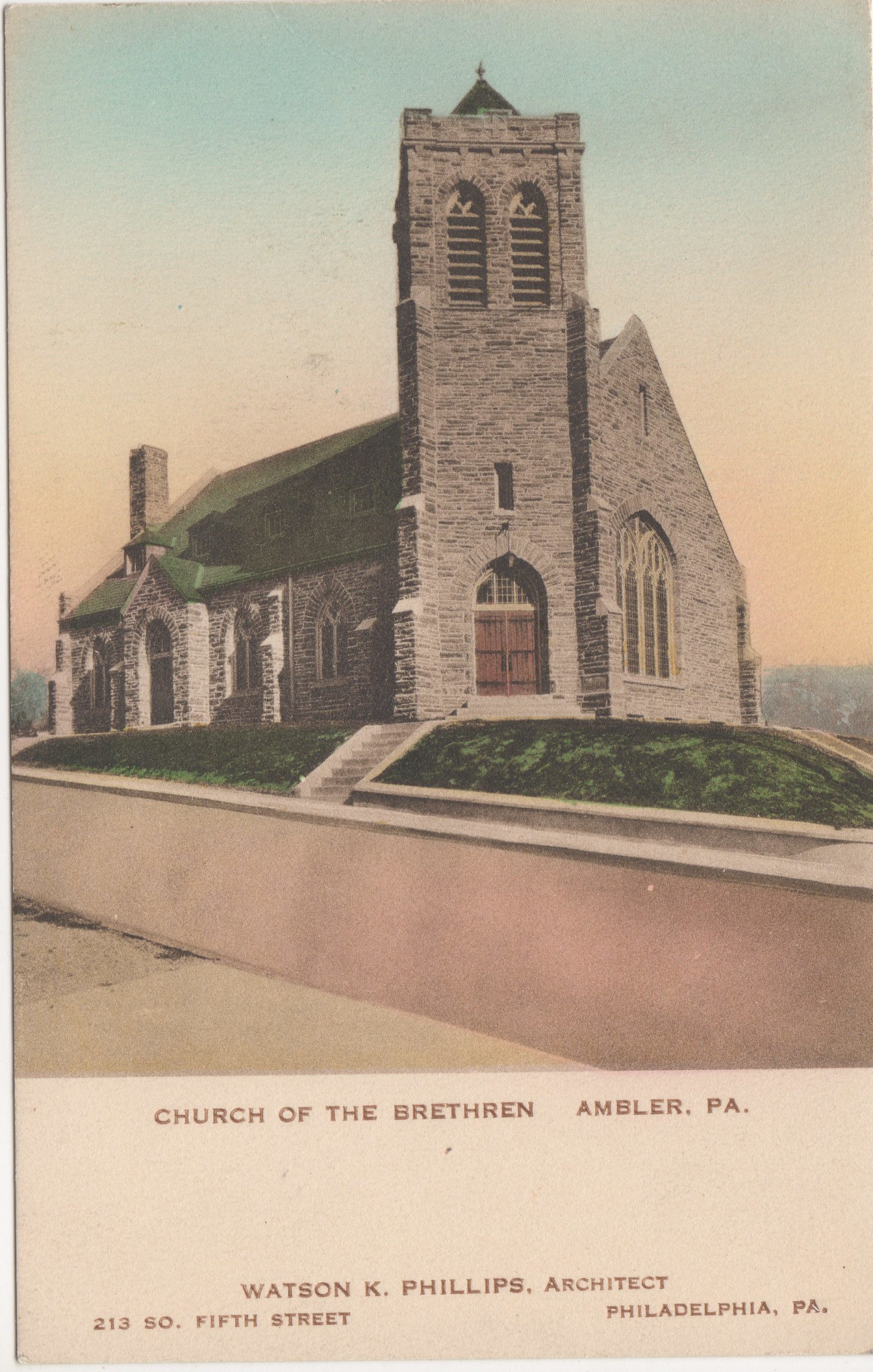 4125.14 Ambler Pa Postcard_Church of the Brethren