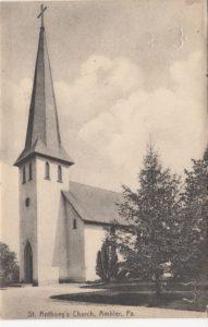 4125.15 Ambler Pa Postcard_St Anthony's Church_circa 1911