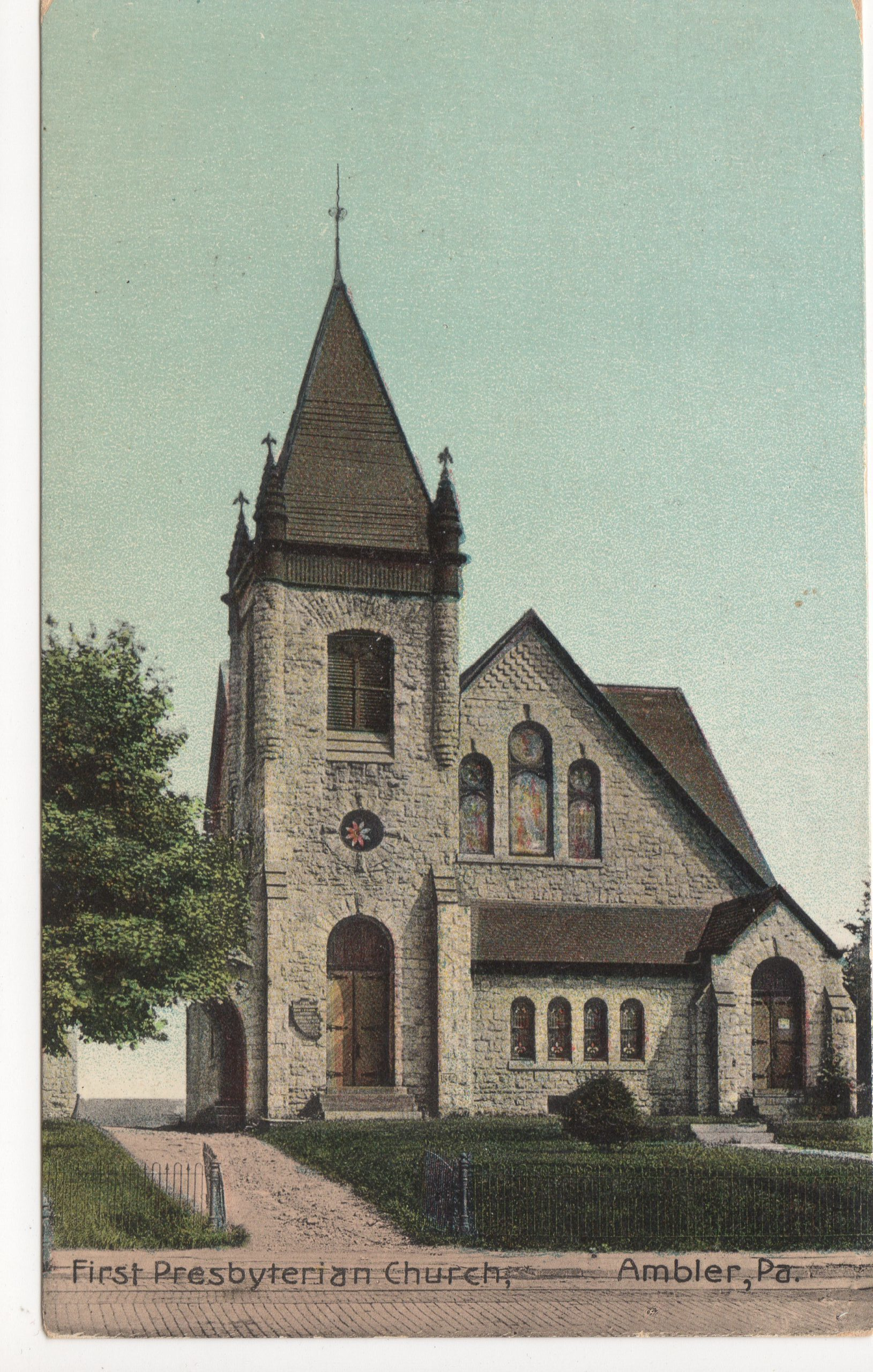 4125.16 Ambler Pa Postcard_First Presbyterian Church