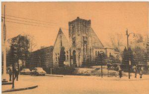 4125.18 Ambler Pa Postcard_First Presbyterian Church_circa 1952