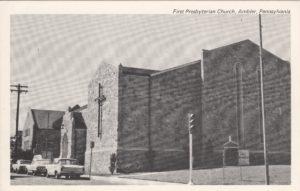 4125.19 Ambler Pa Postcard_First Presbyterian Church_circa 1963