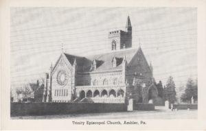 4125.22 Ambler Pa Postcard_Trinity Episcopal Church