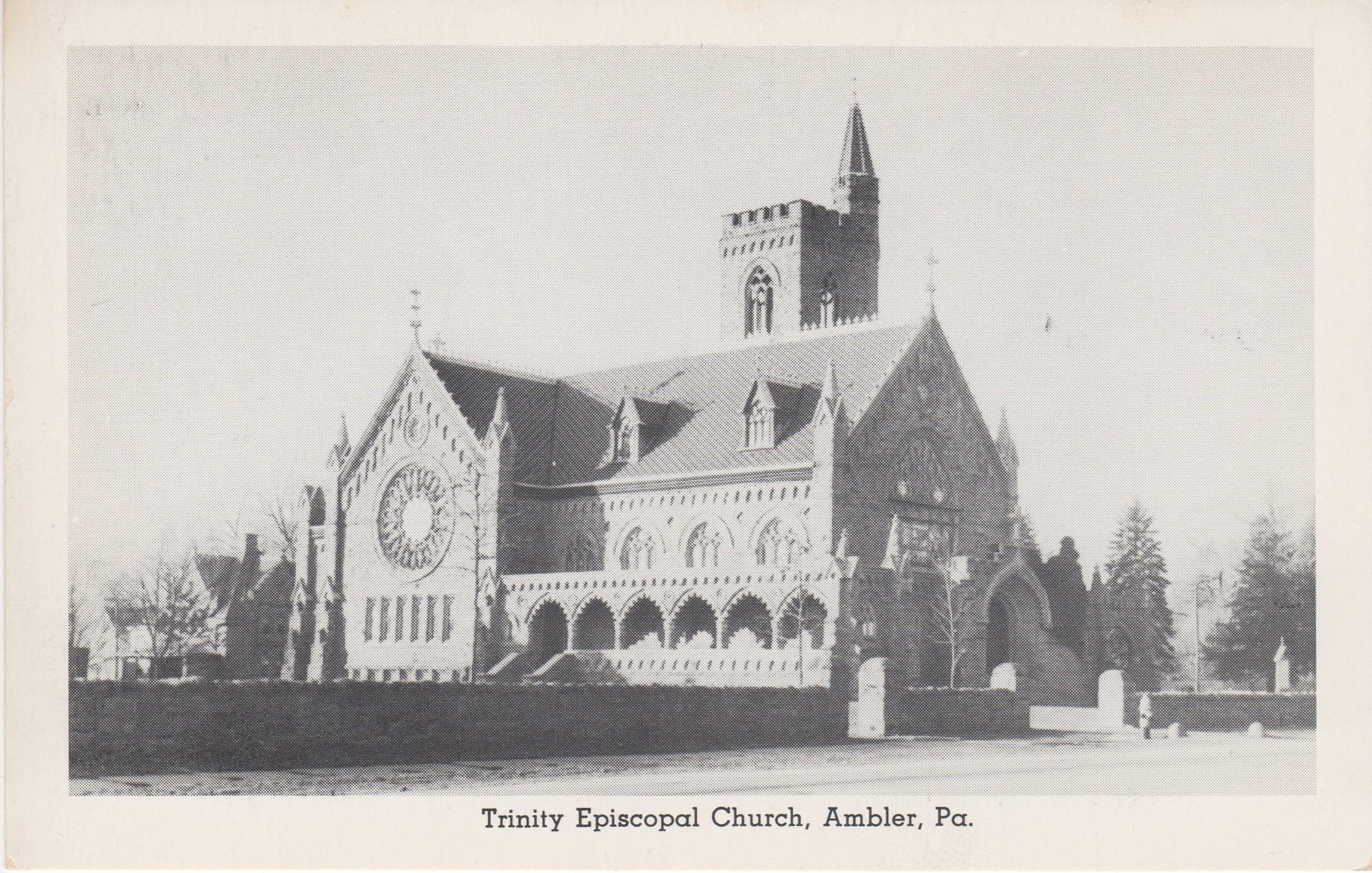 4125.22 Ambler Pa Postcard_Trinity Episcopal Church