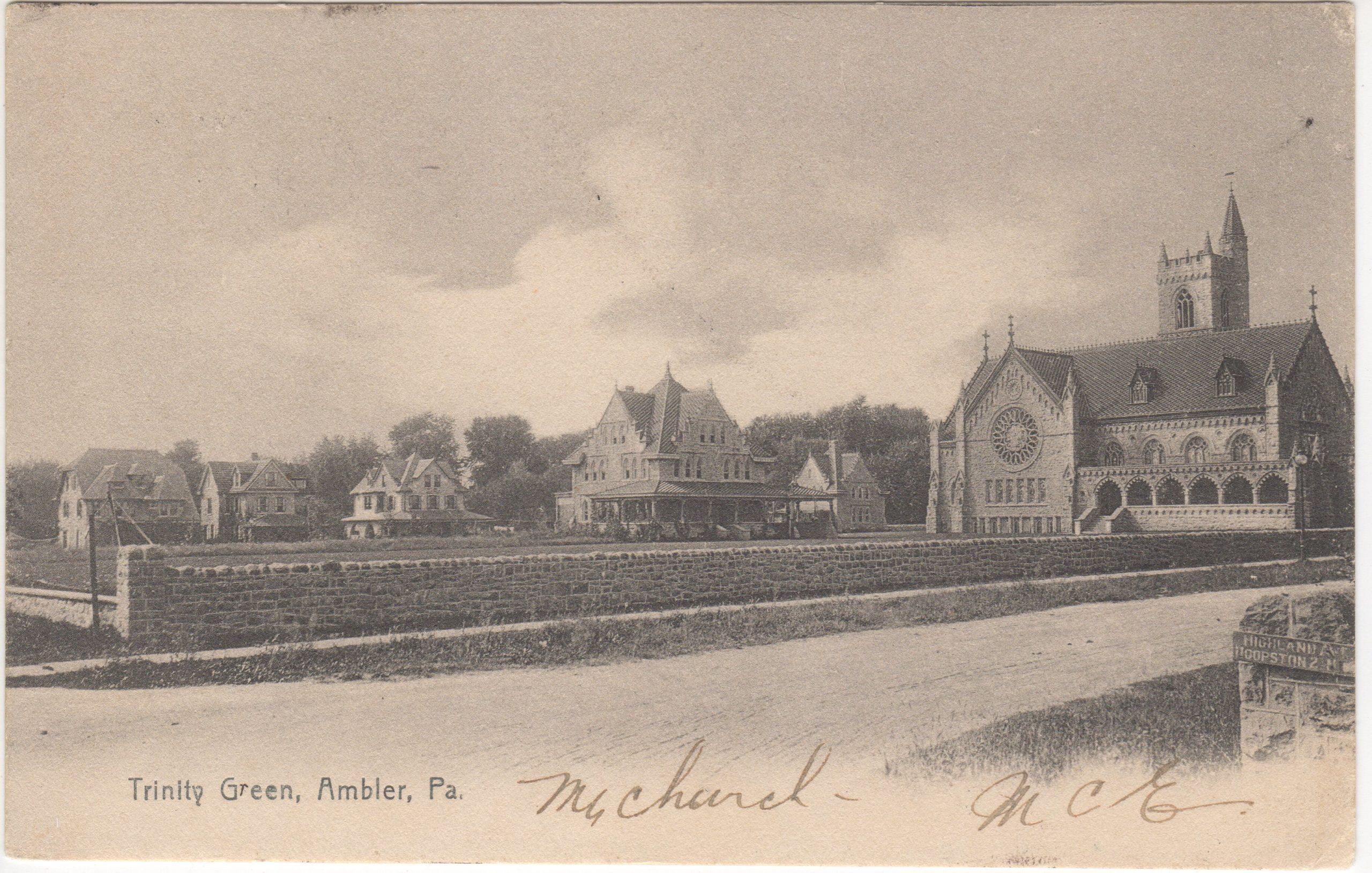 4125.23 Ambler Pa Postcard_Trinity Green_circa 1907