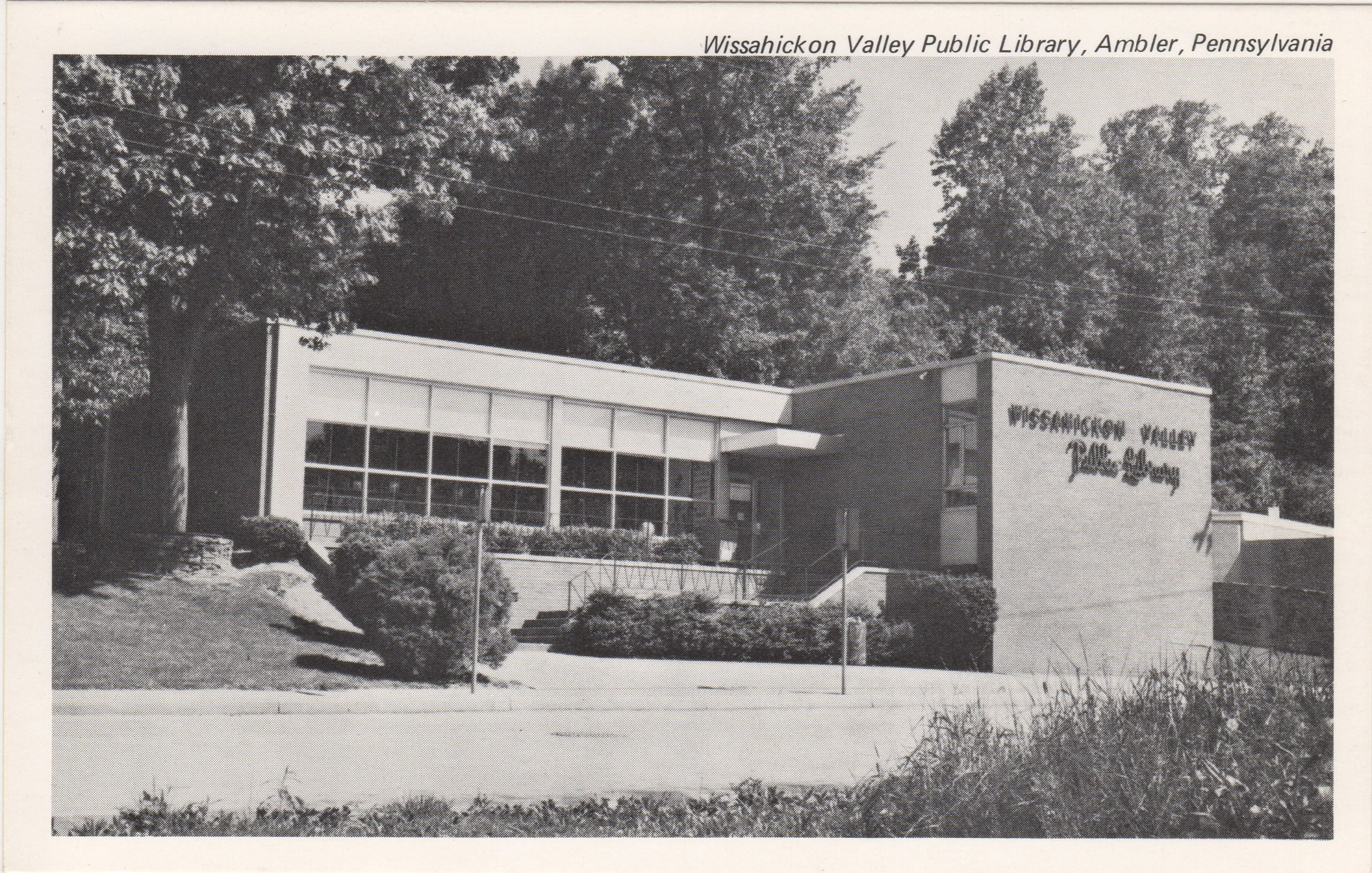 4125.25 Ambler Pa Postcard_Wissahickon Valley Public Library
