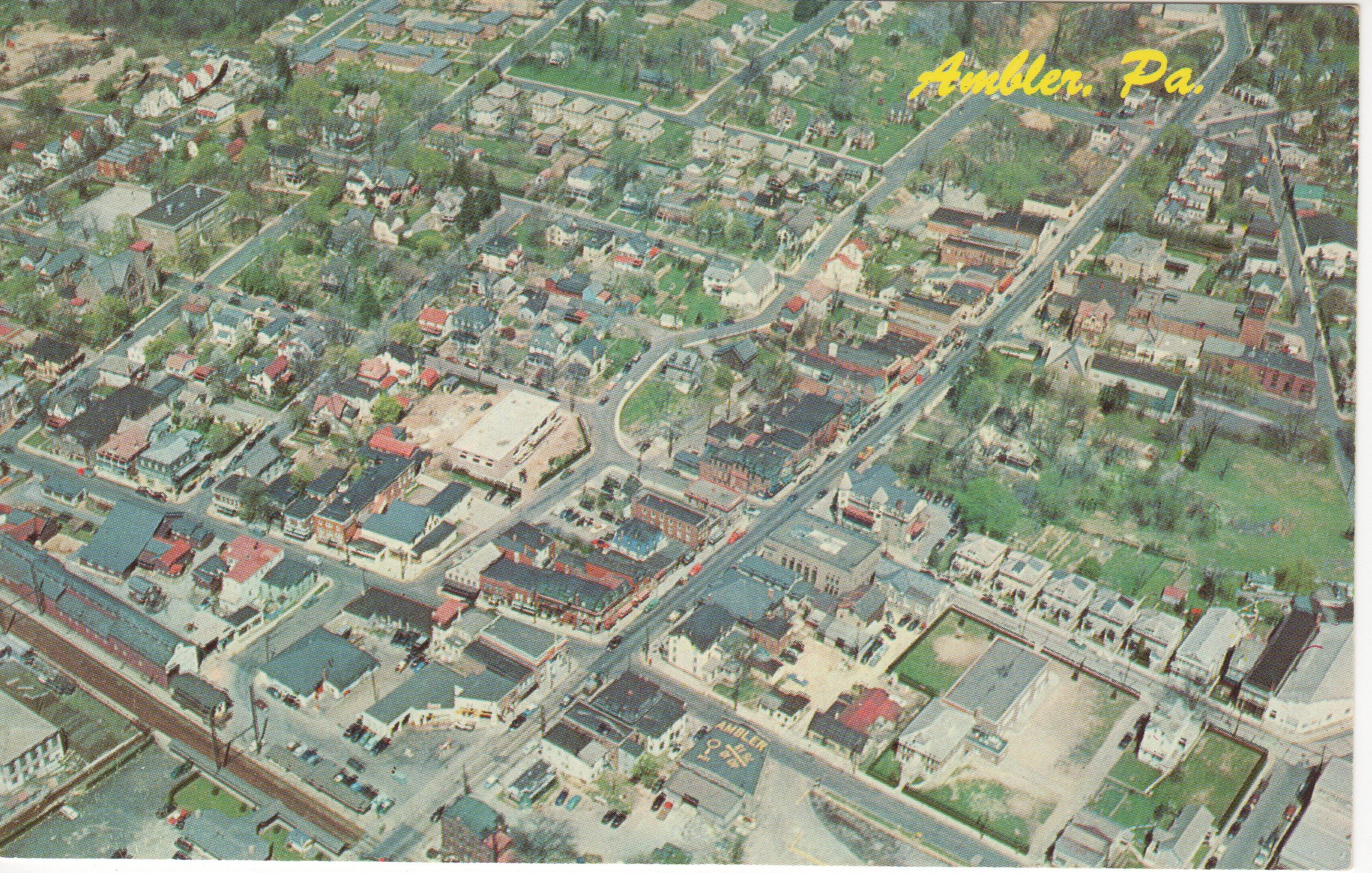 4125.26 Ambler Pa Postcard_Aerial View of Ambler