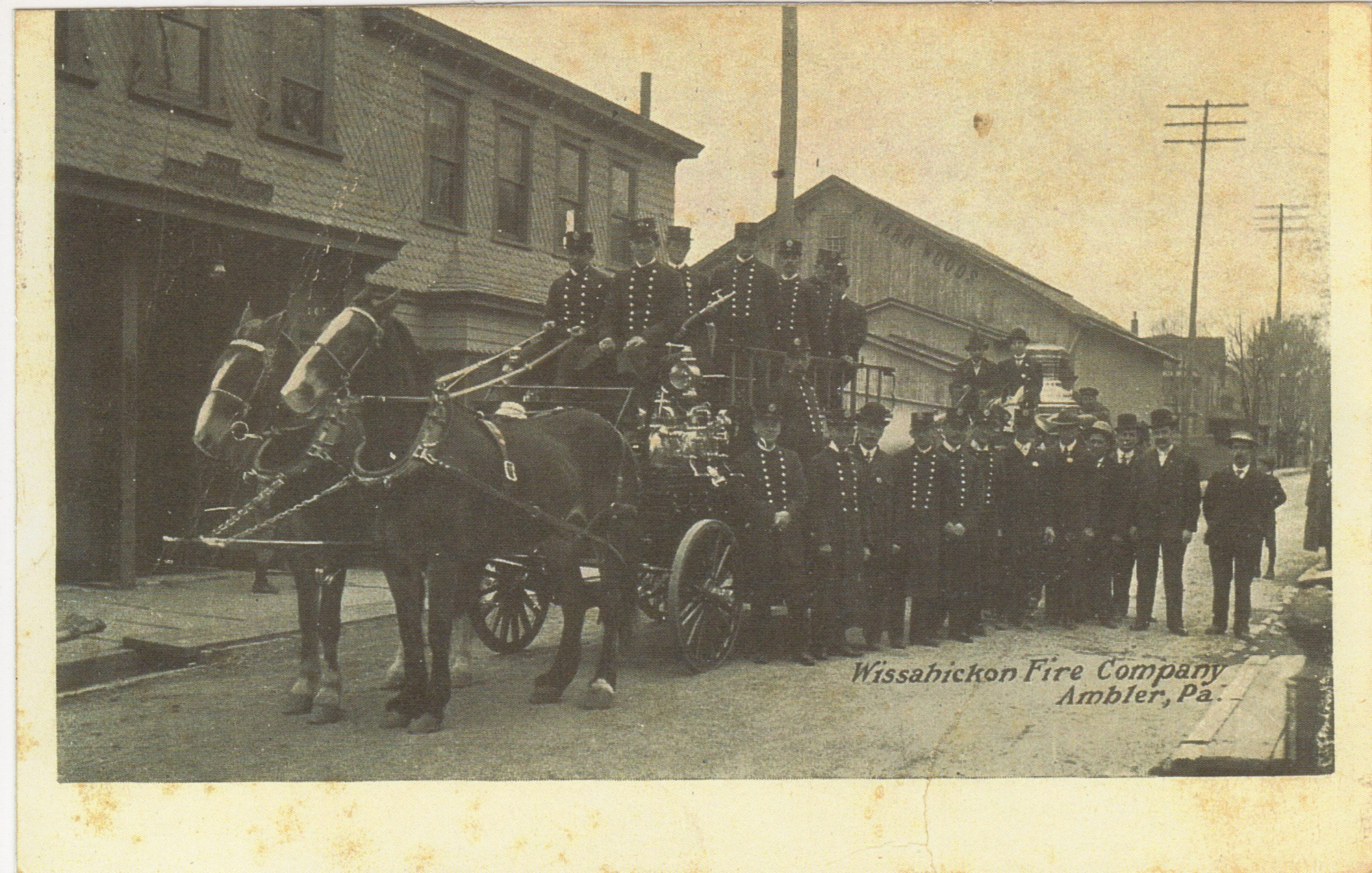 4125.27 Ambler Pa Postcard_Wissahickon Fire Company_circa 1908
