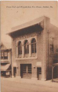 4125.29 Ambler Pa Postcard_Wissahickon Fire House & Town Hall (2)