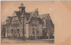 4125.3 Ambler Pa Postcard_Ambler Forest Avenue High School_circa 1910