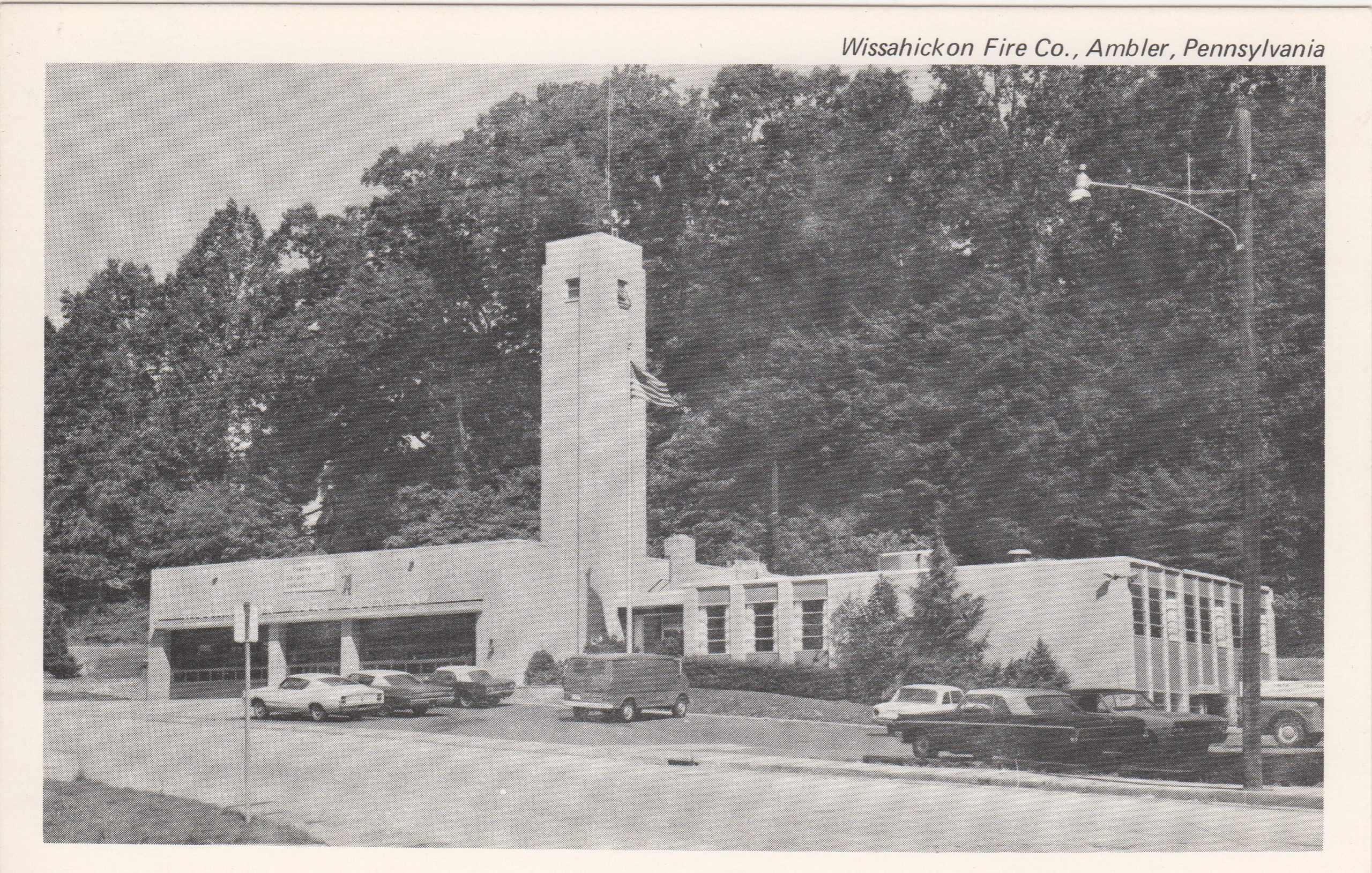 4125.30 Ambler Pa Postcard_Wissahickon Fire Co._circa 1965
