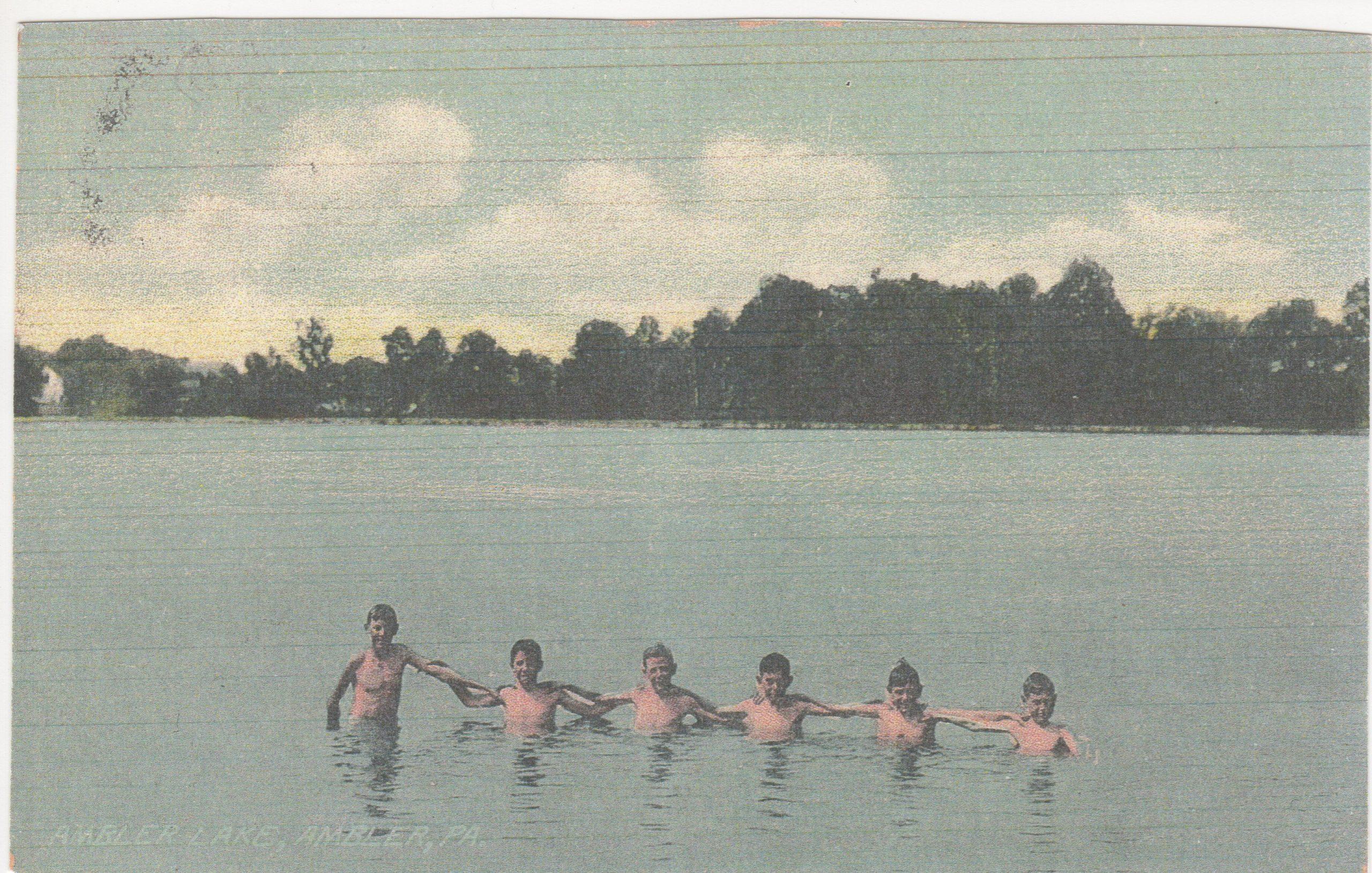4125.31 Ambler Pa Postcard_Ambler Lake