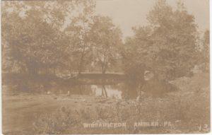 4125.32 Ambler Pa Postcard_Wissahickon Creek