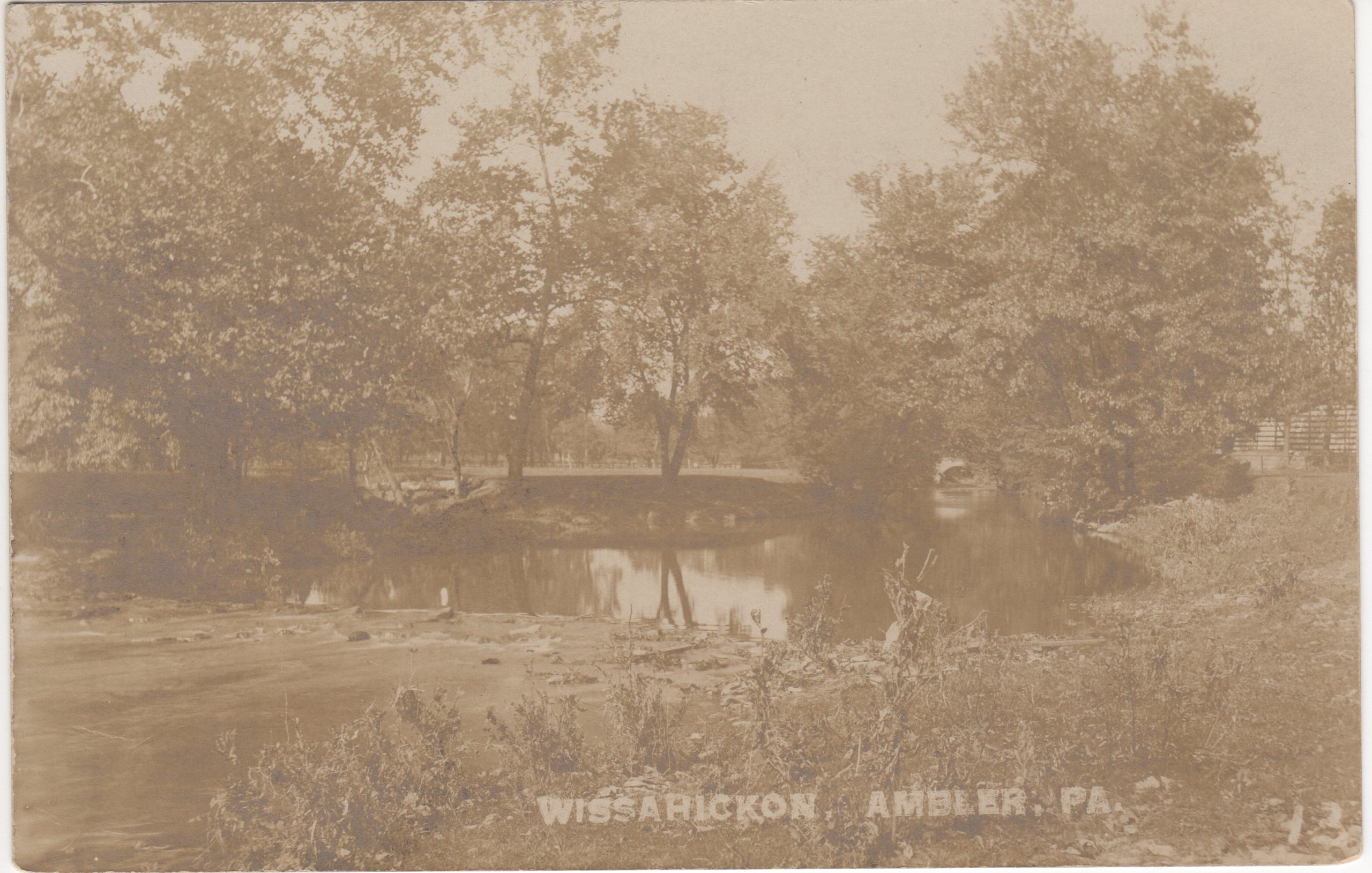 4125.32 Ambler Pa Postcard_Wissahickon Creek