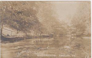4125.33 Ambler Pa Postcard_Wissahickon Creek (2)