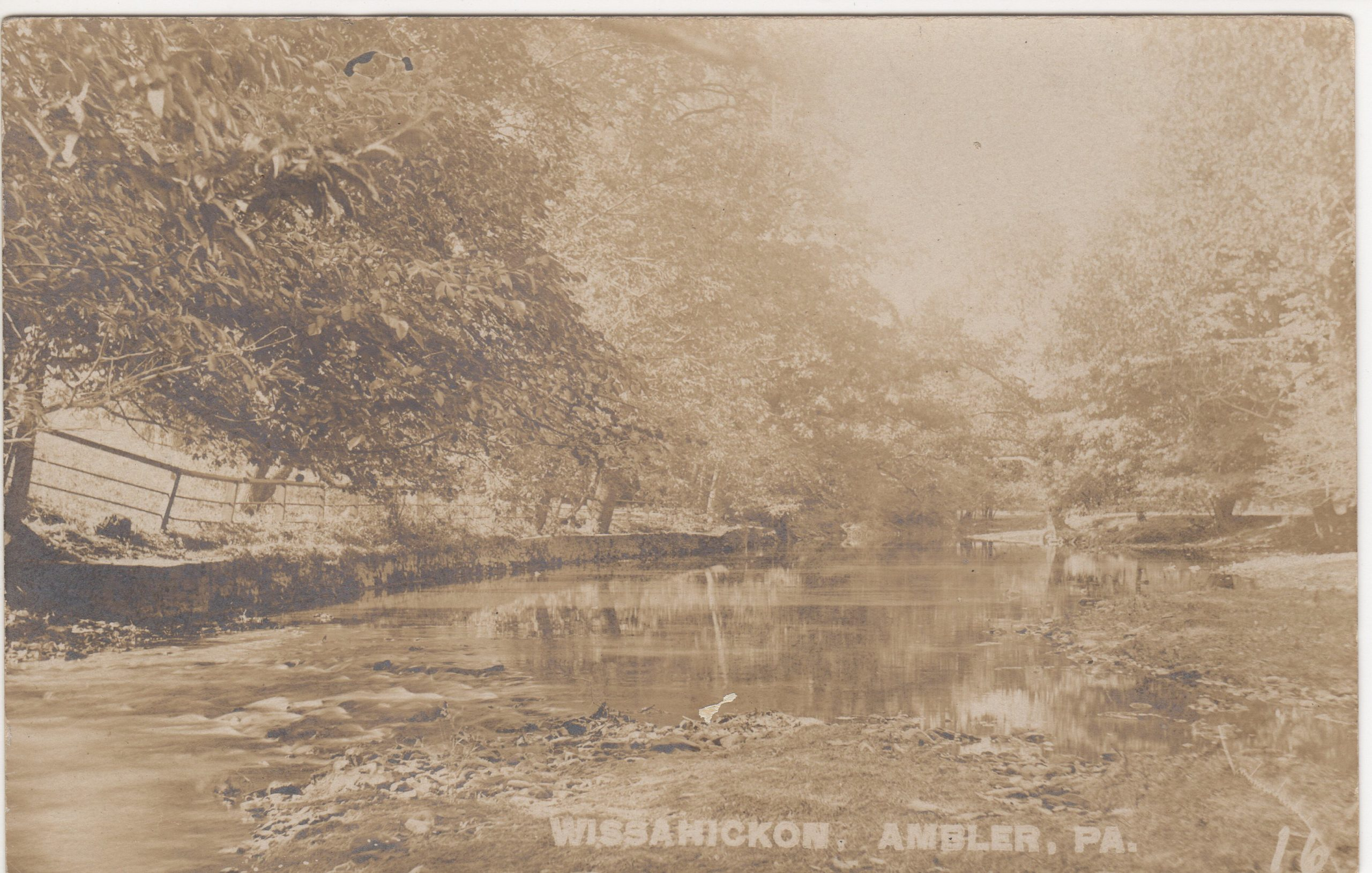 4125.33 Ambler Pa Postcard_Wissahickon Creek (2)