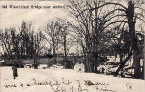 4125.34 Ambler Pa Postcard_Old Wissahickon Bridge Near Ambler_circa 1906
