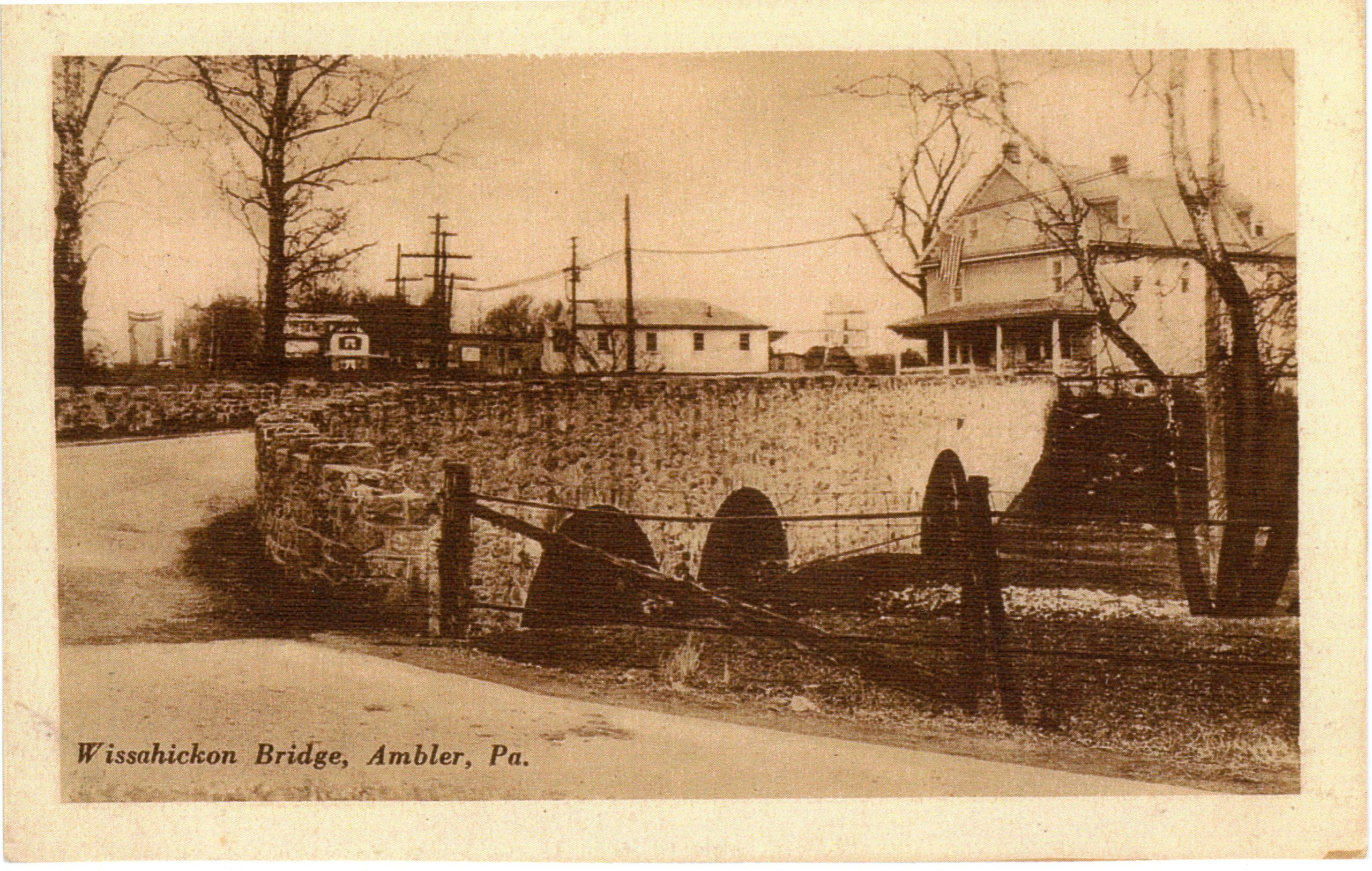 4125.35 Ambler Pa Postcard_Wissahickon Bridge
