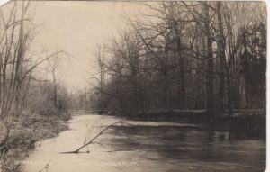 4125.37 Ambler Pa Postcard_Wissahickon Creek North Ambler_circa 1913