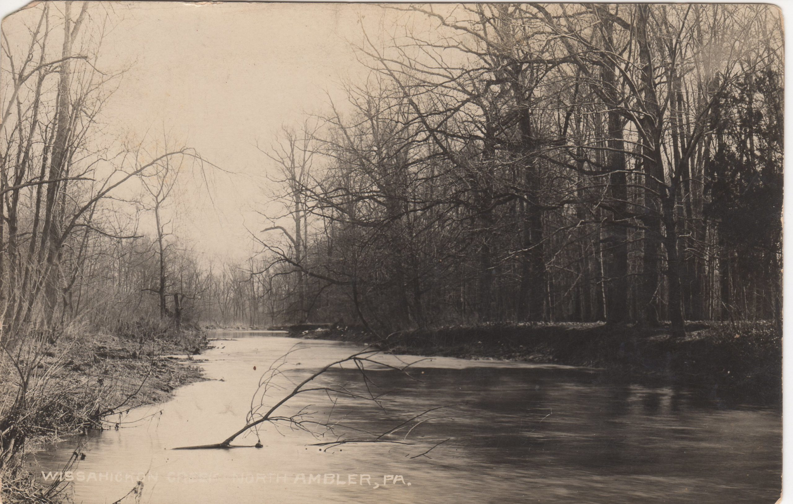 4125.37 Ambler Pa Postcard_Wissahickon Creek North Ambler_circa 1913