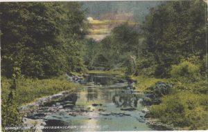 4125.38 Ambler Pa Postcard_Sunset on Wissahickon Creek_ circa 1913