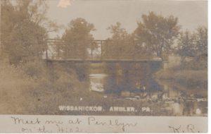 4125.39 Ambler Pa Postcard_Wissahickon Bridge North Ambler