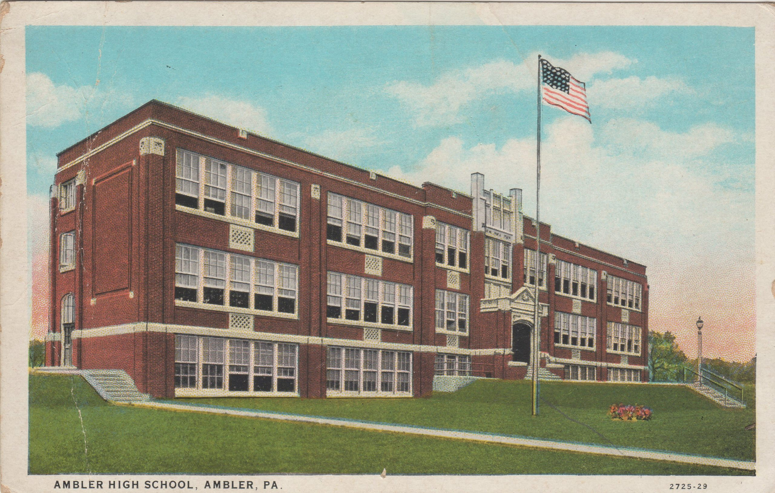 4125.4 Ambler Pa Postcard_Ambler High School (2)