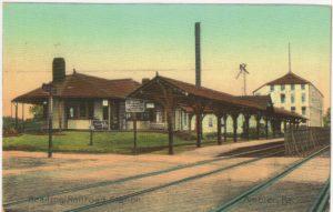 4125.44 Ambler Pa Postcard_Reading Railroad Station_circa 1912