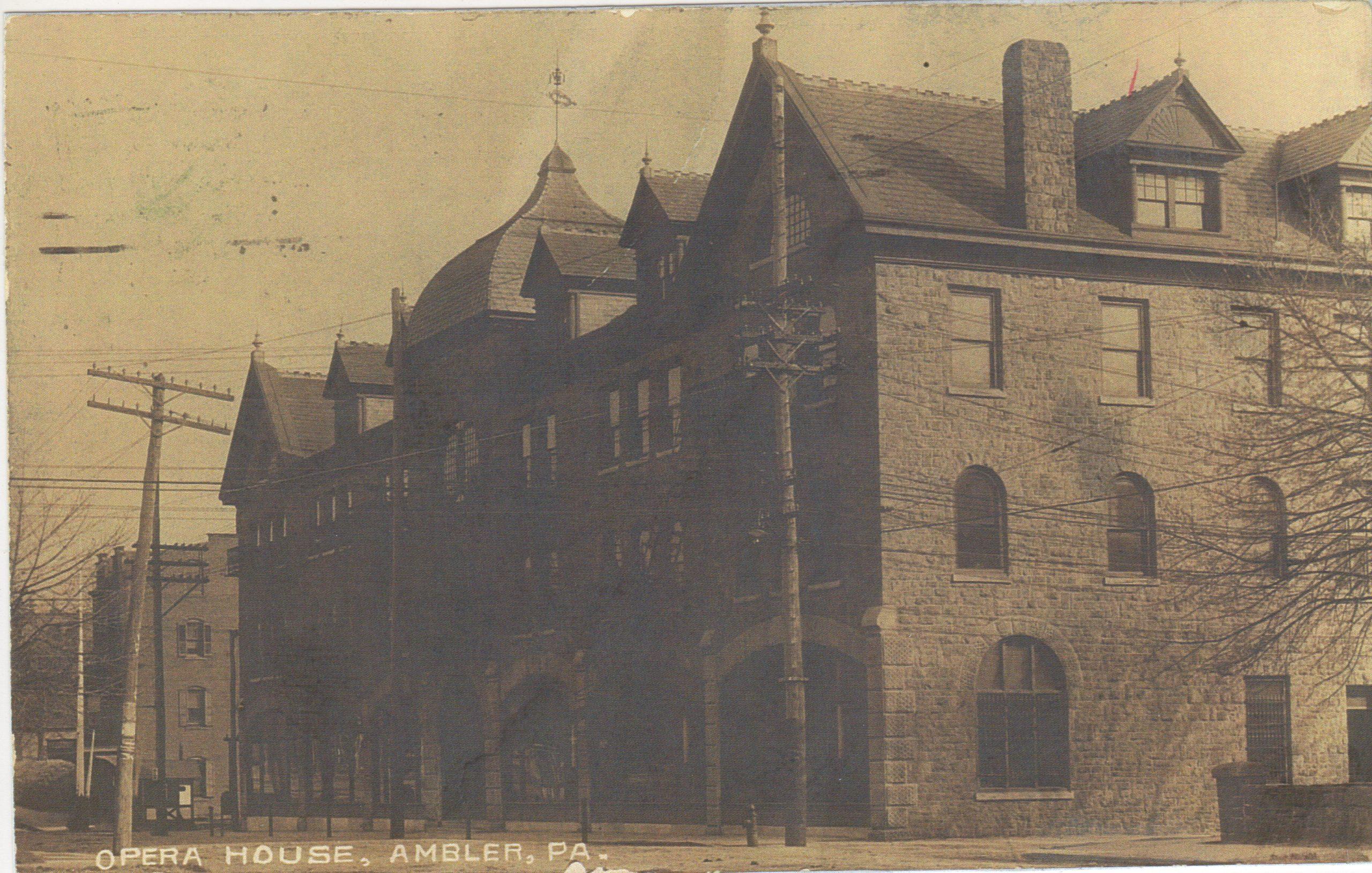4125.47 Ambler Pa Postcard_Opera House