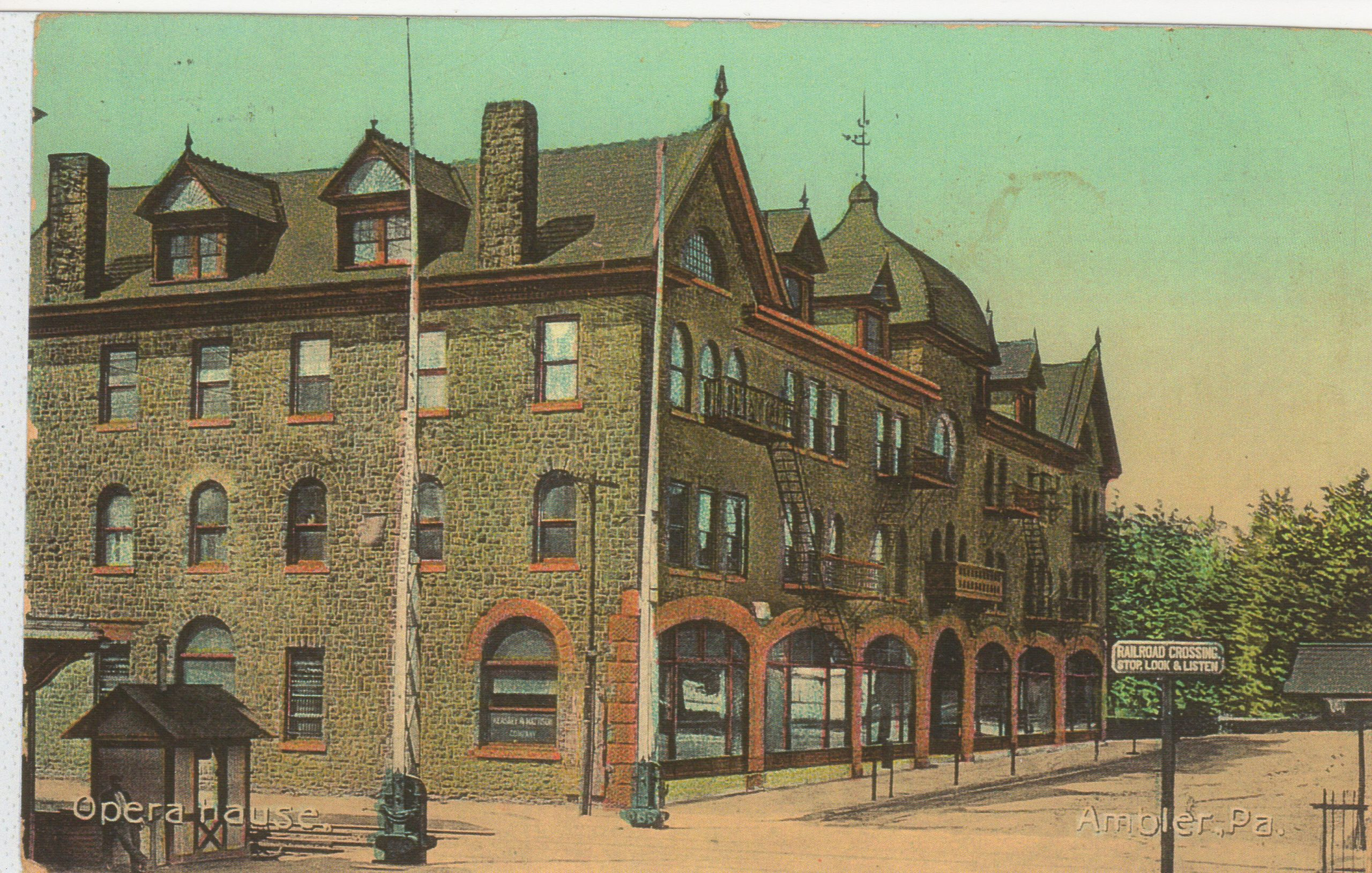 4125.48 Ambler Pa Postcard_Opera House_circa 1913