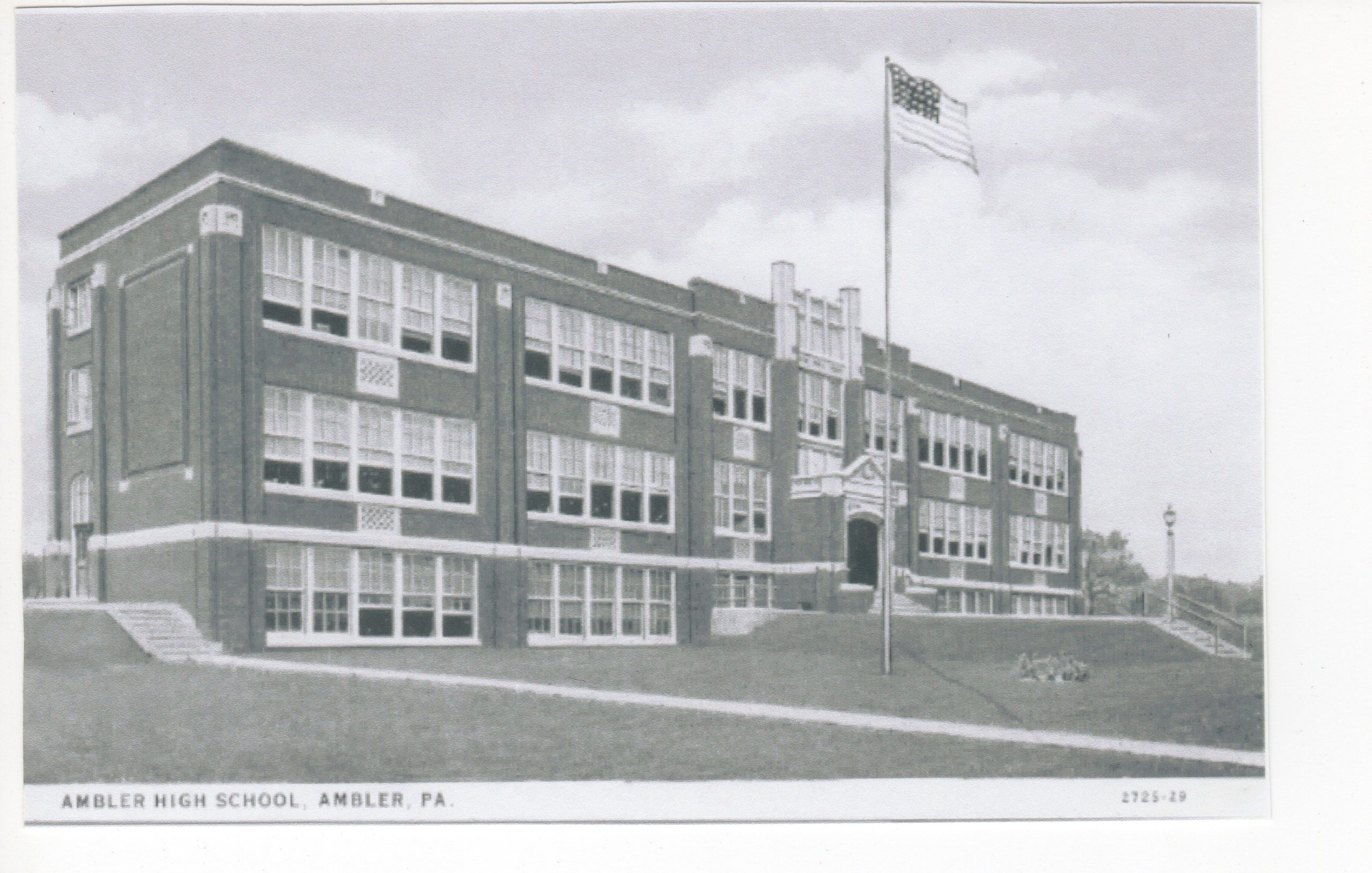 4125.5 Ambler Pa Postcard_Ambler High School