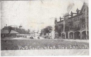 4125.50 Ambler Pa Postcard_P&R Station & K&M Opera Bldg