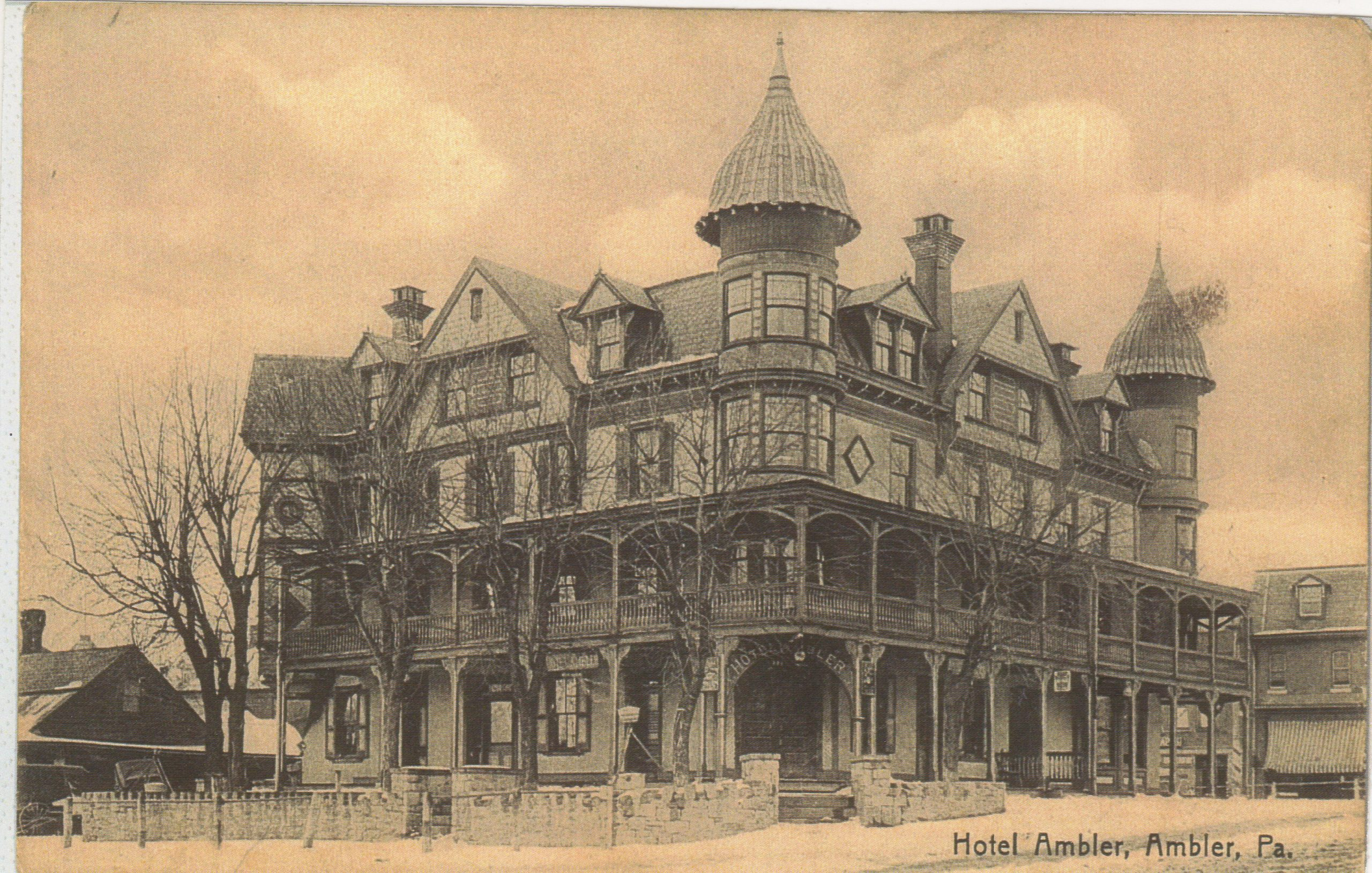 4125.51 Ambler Pa Postcard_Hotel Ambler (2)