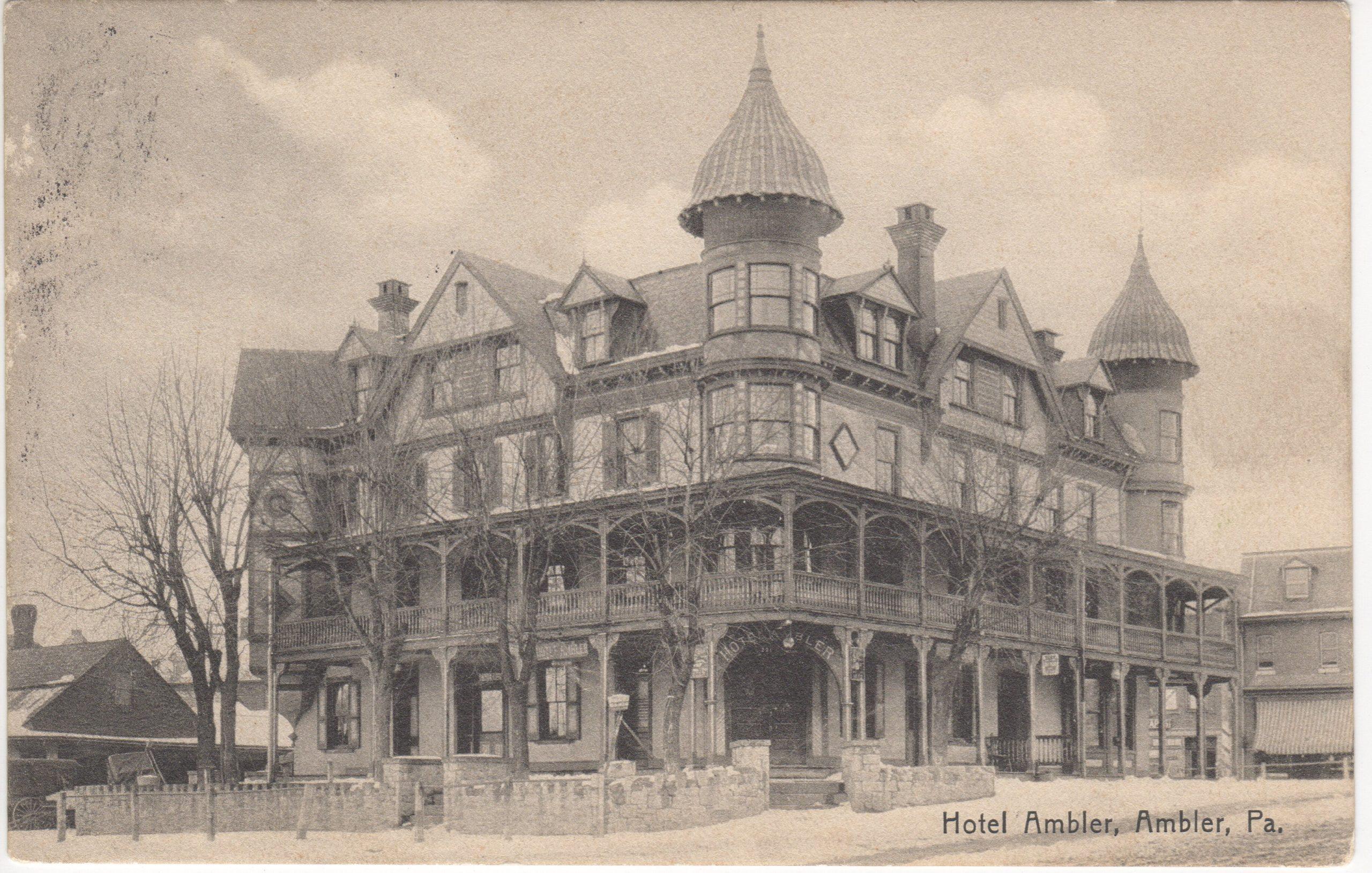 4125.52 Ambler Pa Postcard_Hotel Ambler_circa 1908