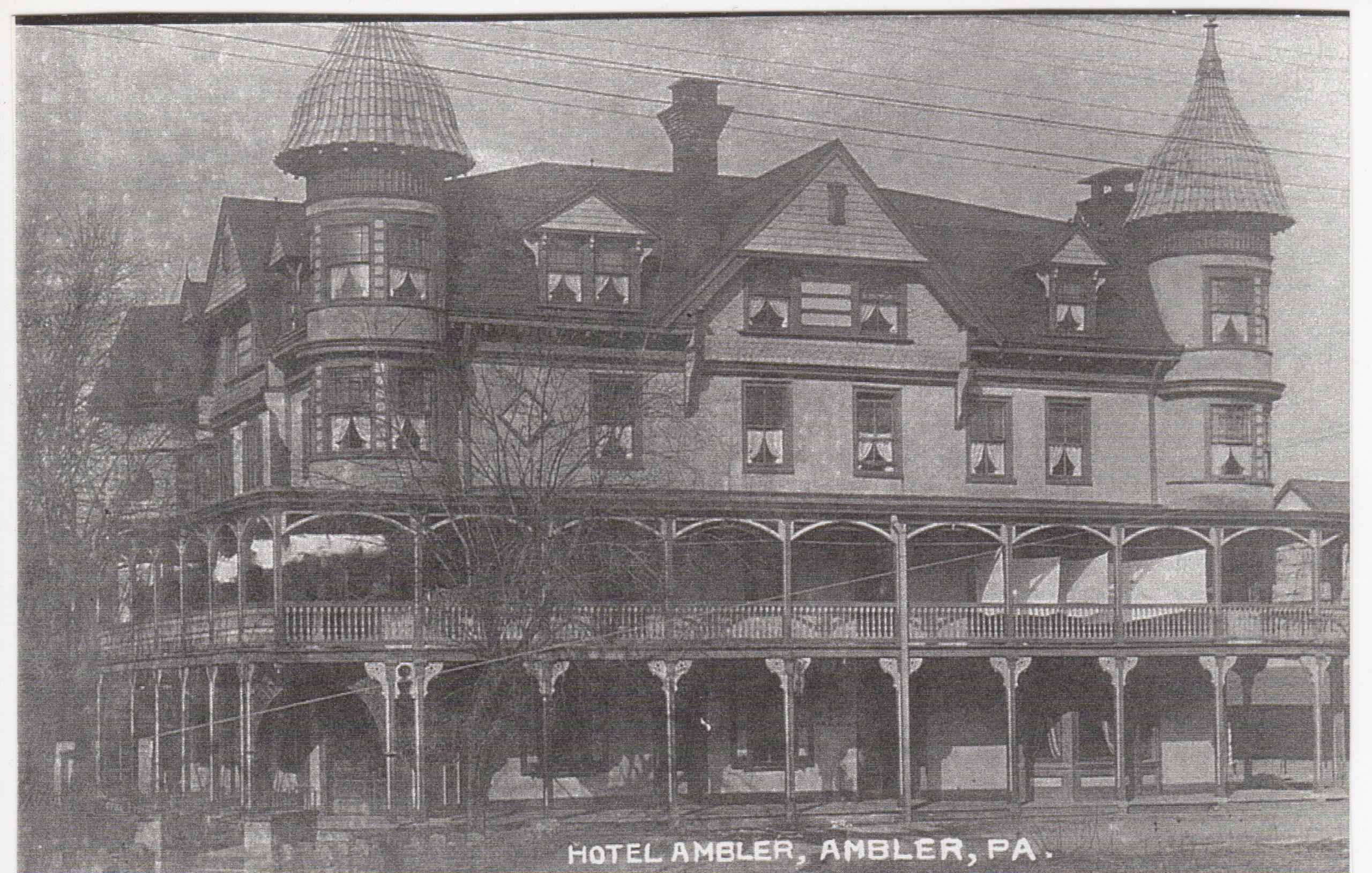 4125.53 Ambler Pa Postcard_Hotel Ambler