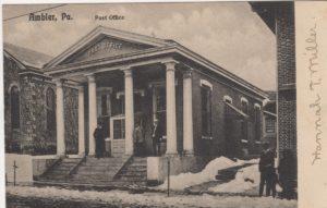 4125.59 Ambler Pa Postcard_Post Office_circa 1907