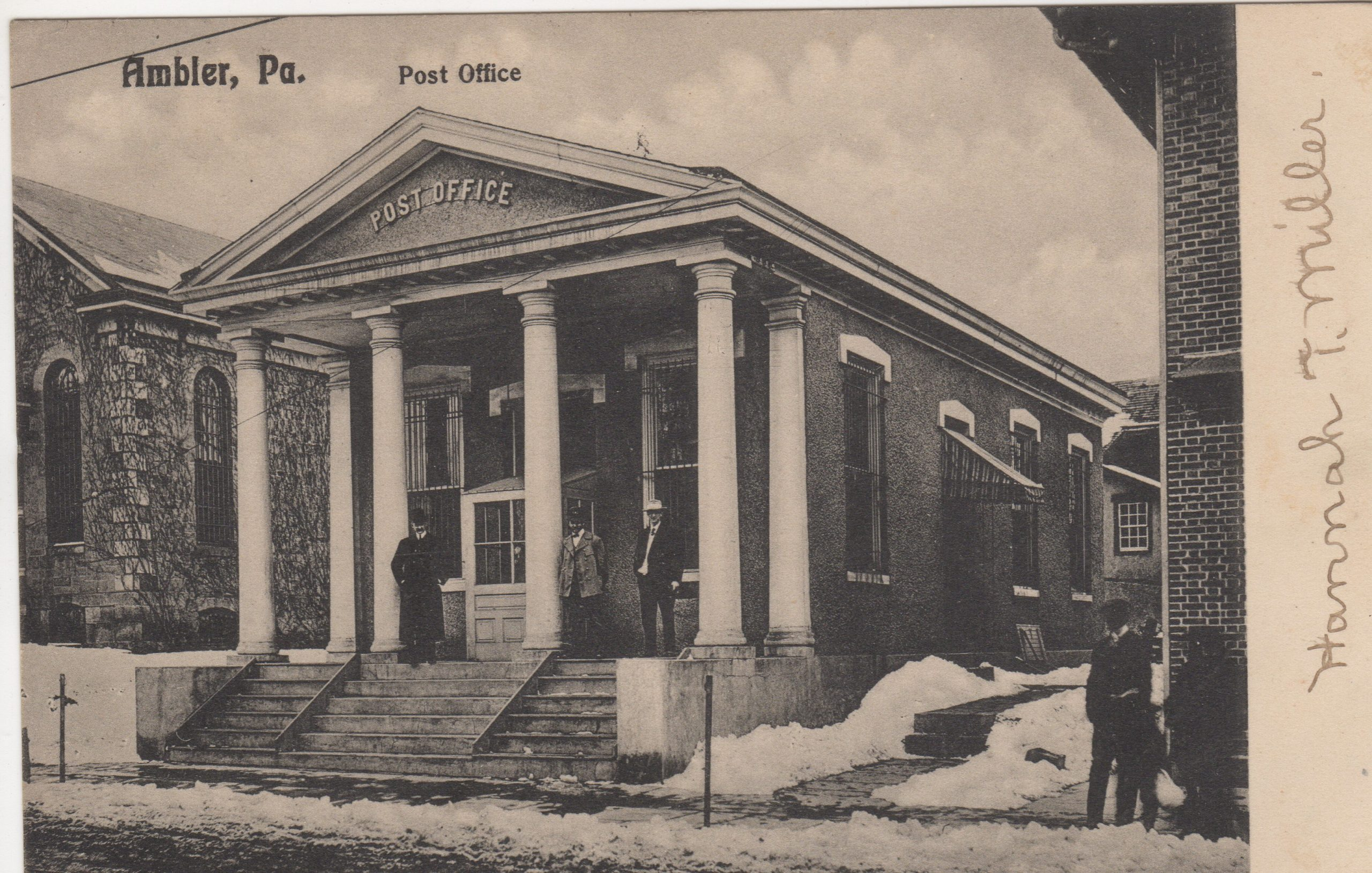 4125.59 Ambler Pa Postcard_Post Office_circa 1907