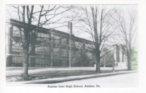 4125.6 Ambler Pa Postcard_Ambler Joint (Junior and Senior) High School
