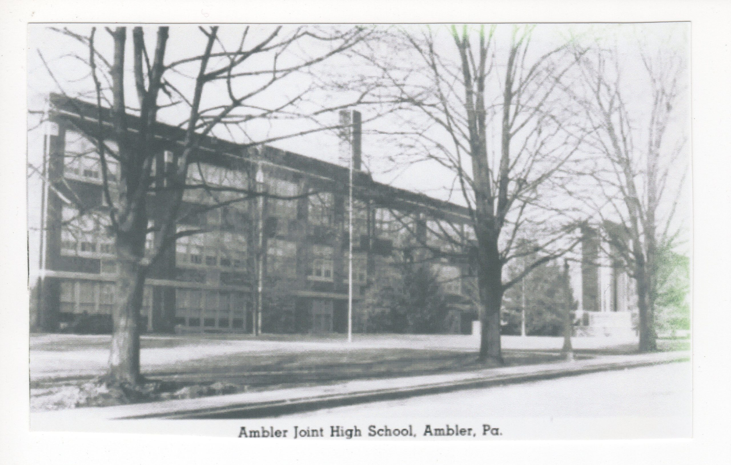 4125.6 Ambler Pa Postcard_Ambler Joint (Junior and Senior) High School