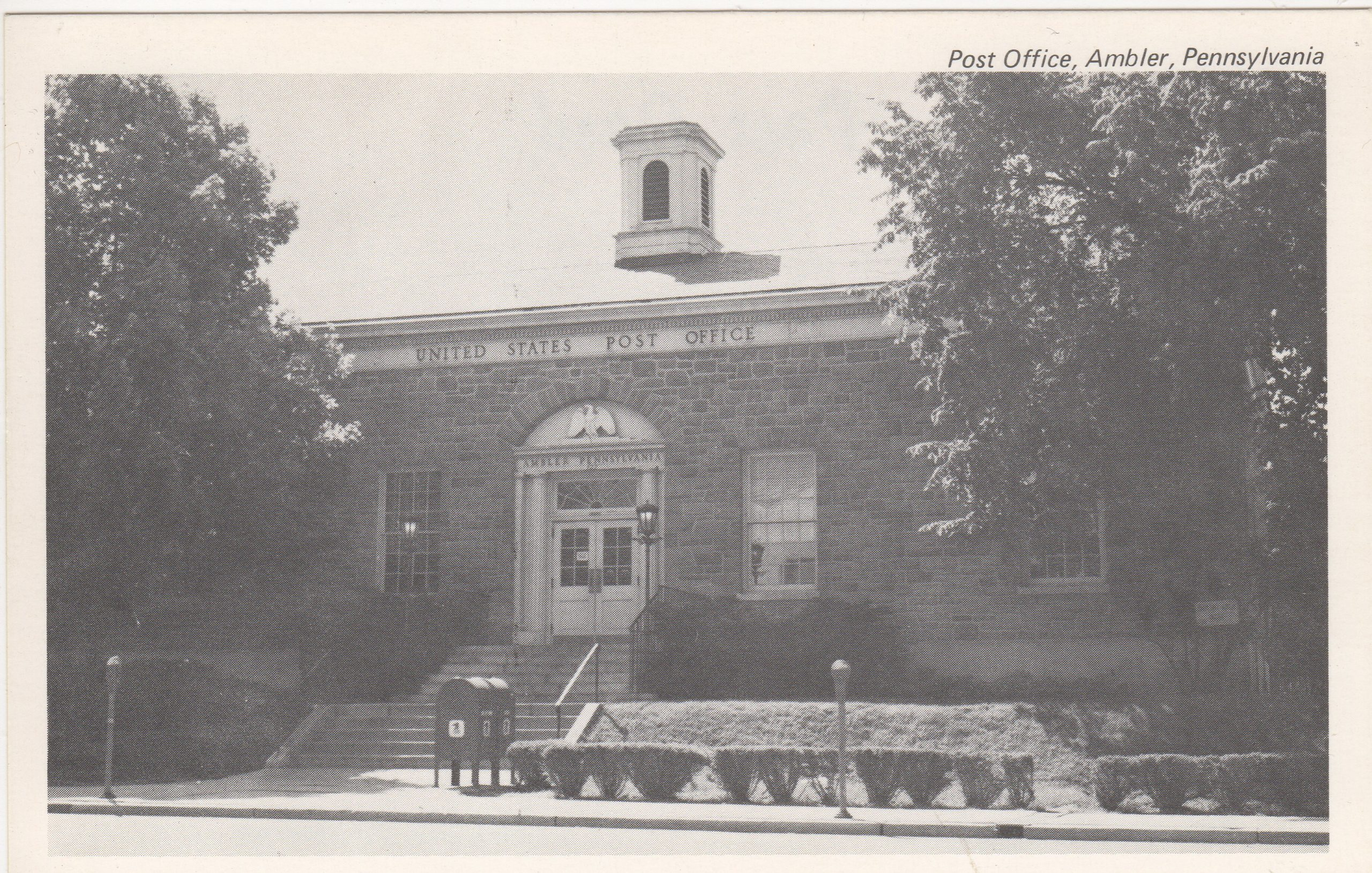 4125.60 Ambler Pa Postcard_Post Office