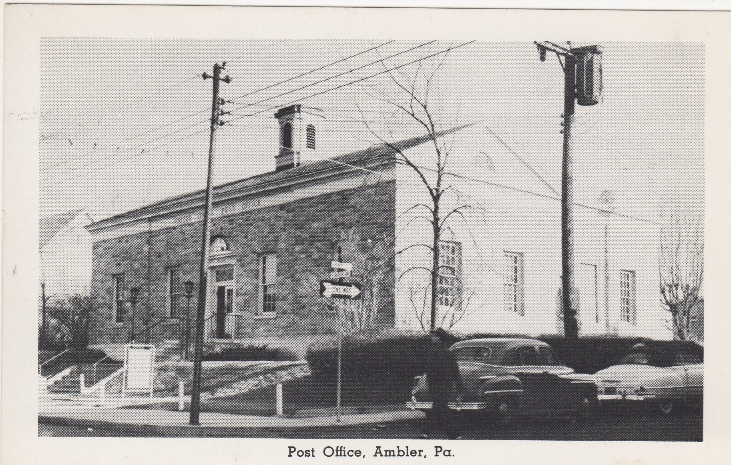 4125.61 Ambler Pa Postcard_Post Office (2)